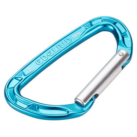 Edelrid Pure Straight - Mousquetons - turquoise/argent